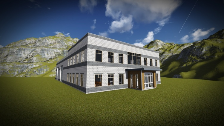 """A 3D rendering of a building currently under design. Helping people """"see"""" is so much easier today because of computer technology. At DEIV Architecture, we extensively use 3D modeling on every project, so clients can always get to """"see"""" their world."""