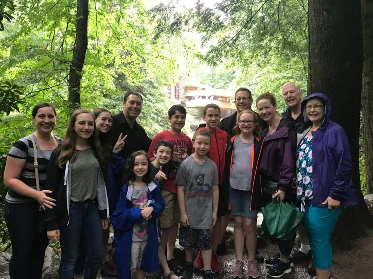 My family, from Left to Right: Ioana (my sweet wife), Ana, Lexie, Myself, Sarah, Tommy, Zach, Jacob, Aiden, Brian, Maddie, Candice, Thomas (my dad), and Sharon (my mom).