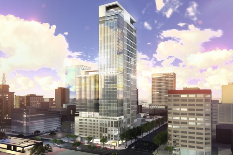Proposed building to replace the Carl's Jr. at the corner of 200 South and State Street in Salt Lake City.  https://www.deseret.com/utah/2019/9/14/20864427/proposed-skyscraper-tallest-building-in-utah-kensington-tower